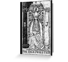 The High Priestess Tarot Card - Major Arcana - fortune telling - occult Greeting Card
