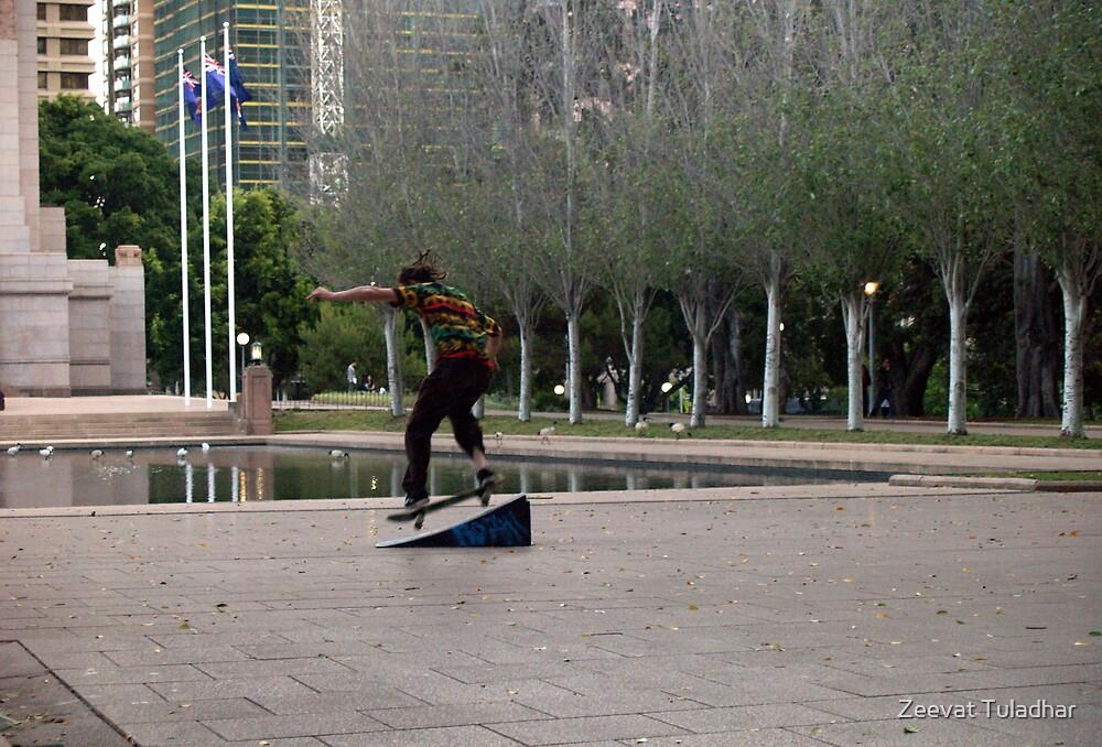 Skateboarding by Zeevat Tuladhar