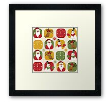 Christmas Countdown Pattern Framed Print