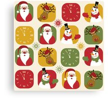 Christmas Countdown Pattern Canvas Print