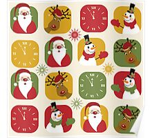 Christmas Countdown Pattern Poster