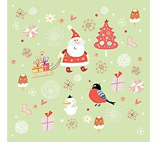 Cute Christmas Pattern Photographic Print