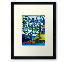Honeymoon Lake Cottage Framed Print