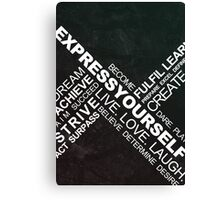 Express Yourself - Typography Canvas Print
