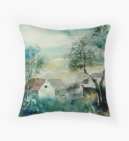 watercolor monceau Throw Pillow