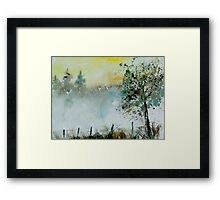 Mist watercolor Framed Print