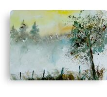 Mist watercolor Canvas Print