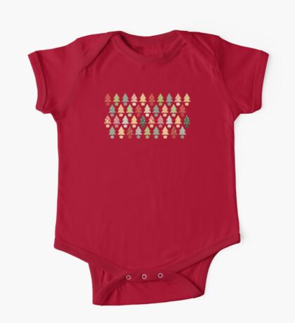 Christmas Trees Pattern One Piece - Short Sleeve