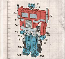 Optimus Prime Transformers Patent  by AquanautStudio