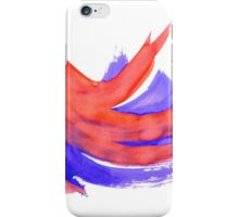 Red Blue Background 2 iPhone Case/Skin