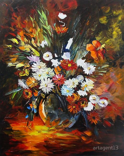 Autumn Flowers By Daniel Wall by artagent13