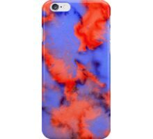 Red Blue Background 4 iPhone Case/Skin