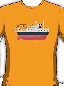 Minimalist Jacques Cousteau's Research Vessel Calypso T-Shirt