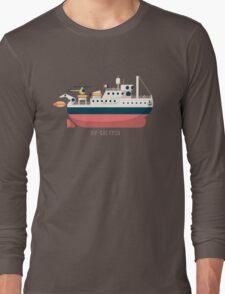 Minimalist Jacques Cousteau's Research Vessel Calypso Long Sleeve T-Shirt