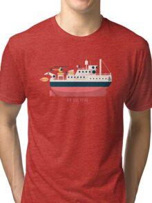 Minimalist Jacques Cousteau's Research Vessel Calypso Tri-blend T-Shirt