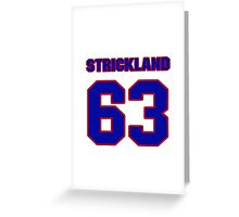National football player Dave Strickland jersey 63 Greeting Card
