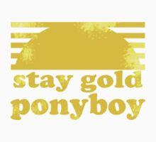 Stay Gold Ponyboy One Piece - Short Sleeve