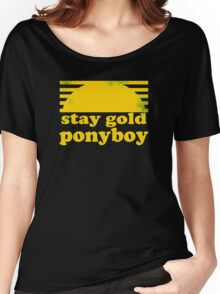 Stay Gold Ponyboy Women's Relaxed Fit T-Shirt