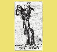 The Hermit Tarot Card - Major Arcana - fortune telling - occult Kids Clothes