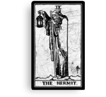 The Hermit Tarot Card - Major Arcana - fortune telling - occult Canvas Print