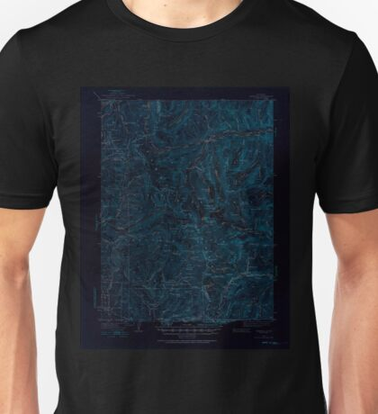 USGS TOPO Map Colorado CO Garfield 402798 1940 62500 Inverted Unisex T-Shirt