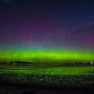 Aurora with satellite, 7 October 2015 from Tasmania by Odille Esmonde-Morgan
