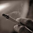 Smoking in silence by Victor Bezrukov