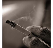Smoking in silence Photographic Print