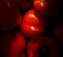 Luscious Red Peppers by EricHands