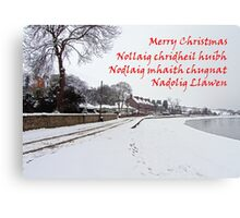 Merry Christmas from the UK Canvas Print