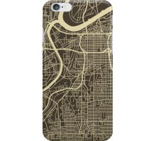 KANSAS CITY MAP iPhone Case/Skin