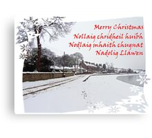 Christmas Greetings from the UK Canvas Print