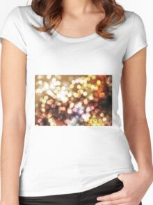 Abstract yellow wallpaper Women's Fitted Scoop T-Shirt
