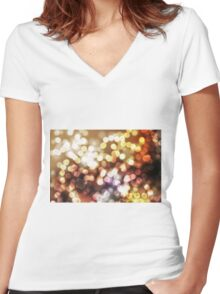 Abstract yellow wallpaper Women's Fitted V-Neck T-Shirt