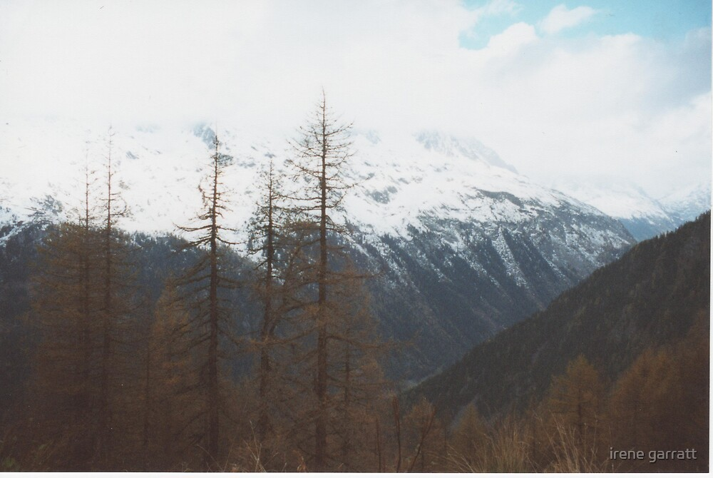 A mountain view in the french alps by irene garratt