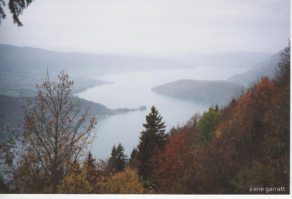 Lake Annacy in the french alps by irene garratt