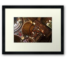 Inside Saint Matthew's Cathedral -- At An Angle Framed Print