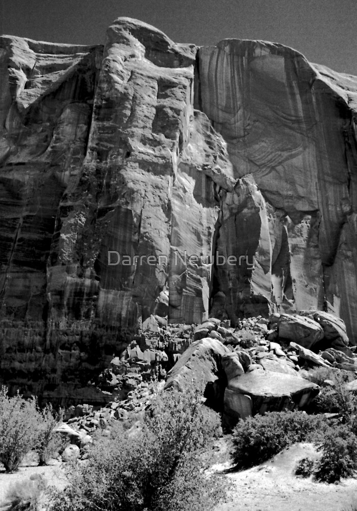 Monument Valley Rock Face by Darren Newbery