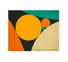 COXETER SEQUENCE OF TANGENT CIRCLES Art Print