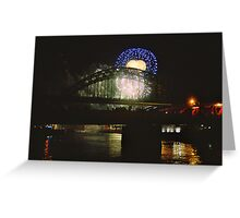 Tall Ships 2005 - Fireworks over the Tyne Greeting Card