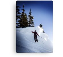 Snow Shoe Jump Canvas Print