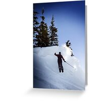 Snow Shoe Jump Greeting Card