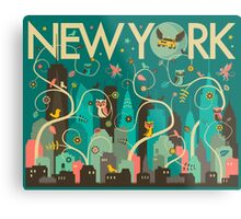 WILD NEW YORK Metal Print