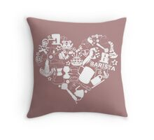 Barista Love Throw Pillow