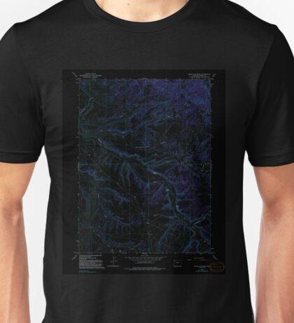 USGS TOPO Map Colorado CO Vermillion Mesa 234849 1966 24000 Inverted Unisex T-Shirt