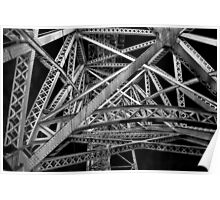 Steel Bridge in Black and White Poster