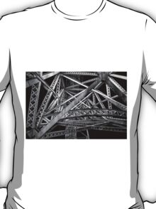 Steel Bridge in Black and White T-Shirt