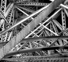 Steel Bridge in Black and White Sticker