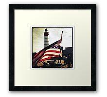 American flag. Framed Print