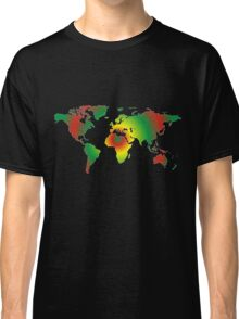 Psychedelic world map Classic T-Shirt